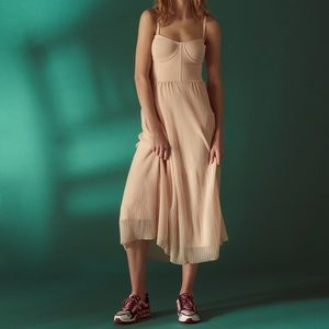 SANDRO NWOT Roxette Knit Pink Midi Dress 36